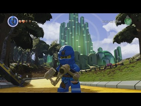 LEGO Dimensions - Wizard of Oz World - Open World Free Roam Gameplay
