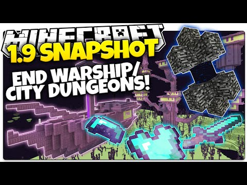 Minecraft 1.9 Snapshot   NEW END CITY DUNGEON & WARSHIP   Epic Loot! (Minecraft 1.9 News)