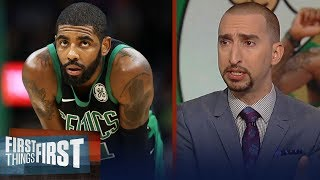 Nick Wright thinks the Celtics will finish 4th best in the East | NBA | FIRST THINGS FIRST