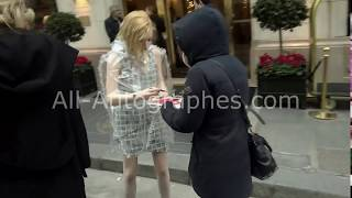 Ellie Bamber signing autographs in Paris