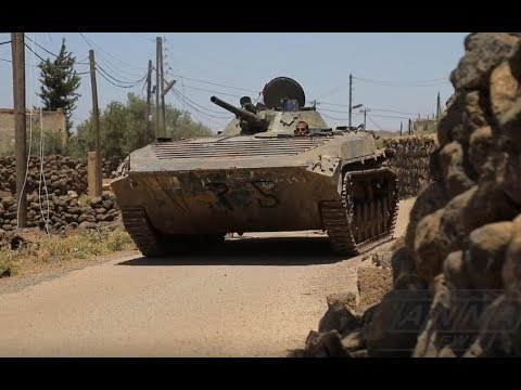 Militants run towards the Jordanian border | July 1st 2018 | Daraa, Syria