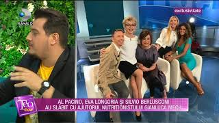 Teo Show (25.04.2018) - Gianluca Mech, nutritionistul vedetelor de la Hollywood! Partea 3