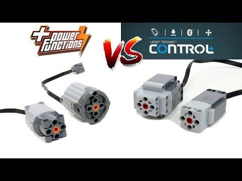 NEW LEGO Control+ Motors VS Power Functions Motors