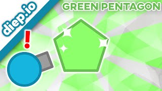 POLYGON HUNTING 1 / DIEP.IO GREEN PENTAGON SPOTTED! / REAL GREEN SHAPE! WATCH AND SEE!