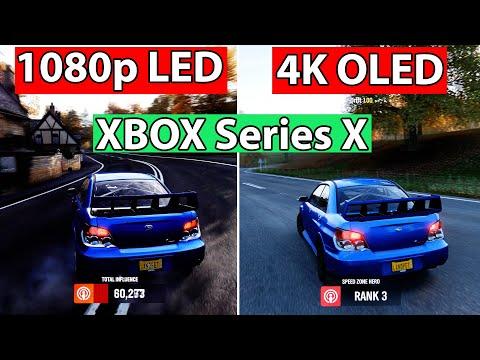 Xbox Series X Gaming at 1080p vs 4K   Old Sony LED vs LG CX OLED