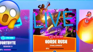 "NEW "" FORTNITE HORDE RUSH LTM MODE Disabled AND WEEK 6 CHALLENGES UNLOCK"