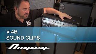 Ampeg V-4B 100W All-Tube Bass Head - Sound Clips