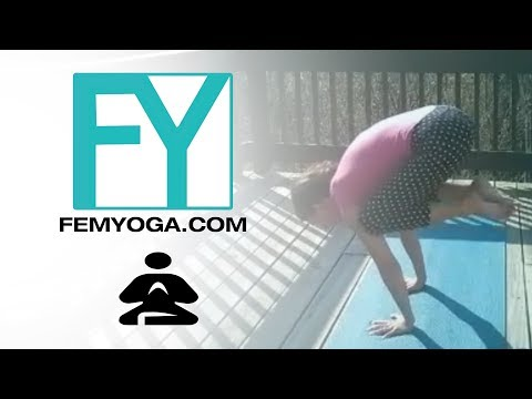 Outside yoga With A view, forearm stand challenge Day 10