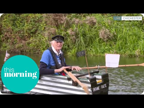The 80-Year-Old Who Has Made His Own 'Tintanic' Boat Joins Us In The Water! | This Morning