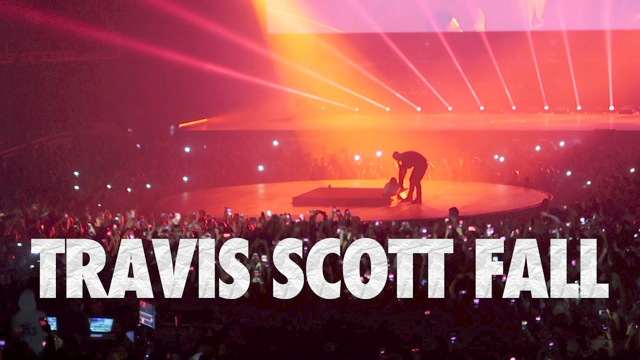 8e1f1b6288da Travis Scott Falls at Drake Concert in London - YouTube