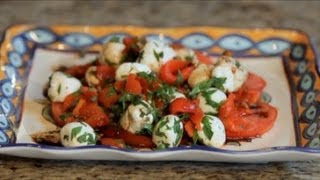 How To Make Tomato, Pepper, Mozzarella, & Caper Salad