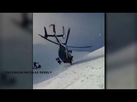 Watch: Extraordinary helicopter rescue in the French Alps
