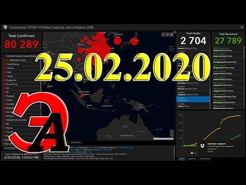 Коронавирус в цифрах на 25-е февраля 2020 года. Последствия коронавируса в мире уже сейчас