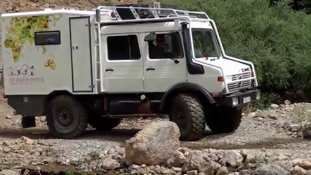 unimog camping car motor home raid 4x4 maroc cirque de jaffar youtube. Black Bedroom Furniture Sets. Home Design Ideas