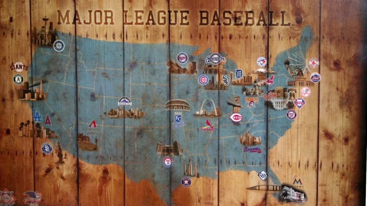 Baseball Stadium Map All National And American League Teams Youtube - Map-of-us-baseball-stadiums