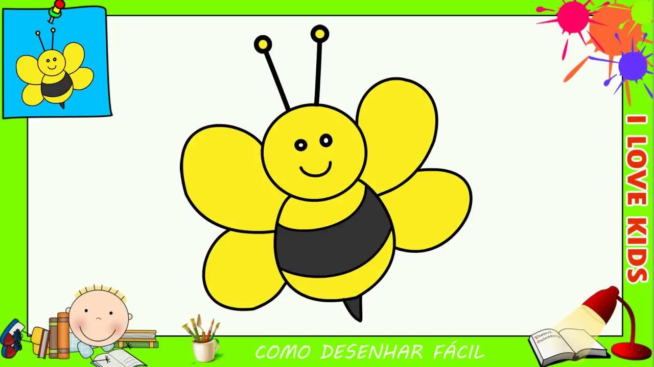 Como Desenhar Uma Abelha Facil Passo A Passo Para Criancas E