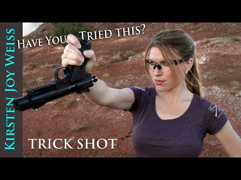 Shooting a Pistol Upside Down With My Pinky! - Have You Tried This?? | Trick Shots