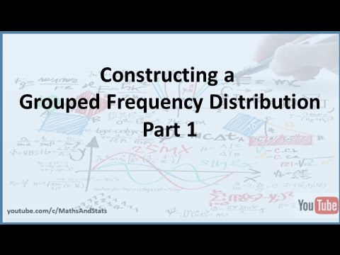 how do you construct a frequency distribution