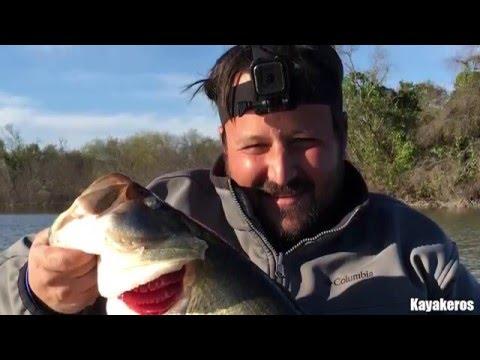 Kayak Bass Fishing - Los Mimbres Lake - 160109