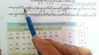 Belajar Membaca Atau Menyalin Aksara Bali Bagi Pemula