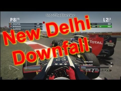 F1 Game 2012 - New Delhi Downfall