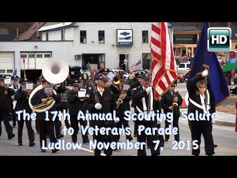 Scouting Salute to Veterans Parade: Nov 2015 - Ludlow, VT