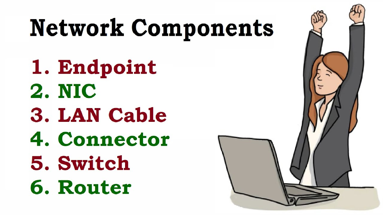 network components endpoint nic lan cable connector switch router