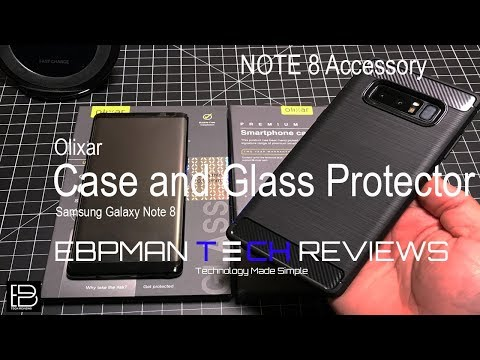 Samsung Galaxy Note 8 Case & Glass Protector from Olixar