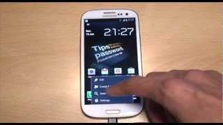 Clear Internet Browsing Search History on Samsung Galaxy S3 (SIII, i9300)