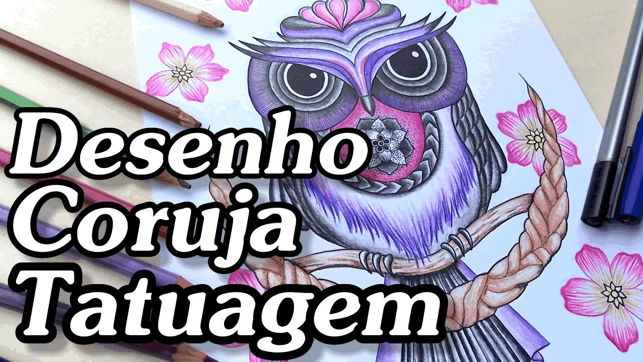 Desenho Coruja Tatuagem 3 Youtube