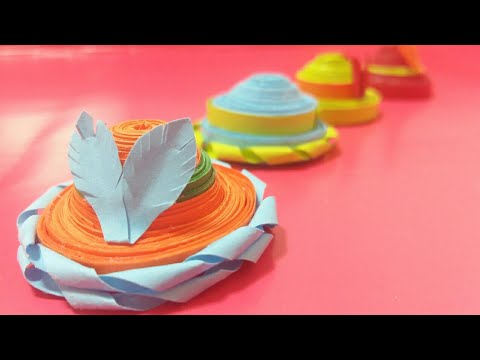 Learn to Make Quilling  Hat | DIY paper hat / 퀼트 종이 모자 / Colorful Craft