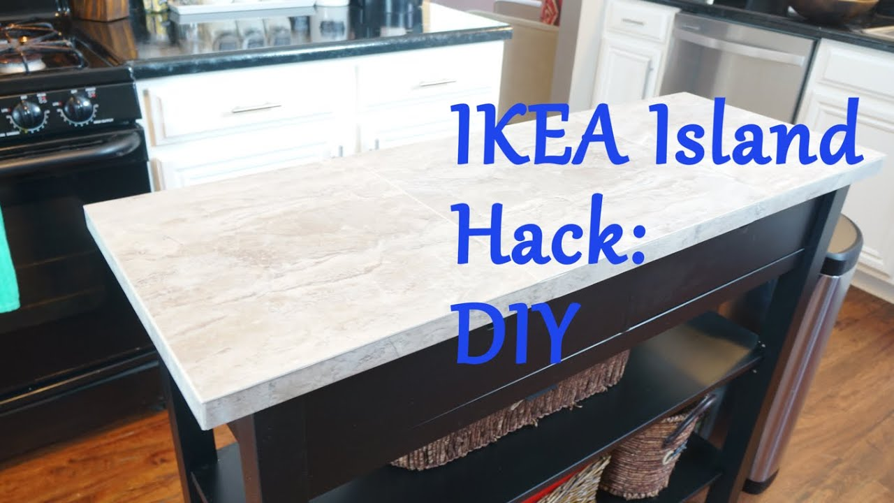 ikea island top hack - diy - youtube