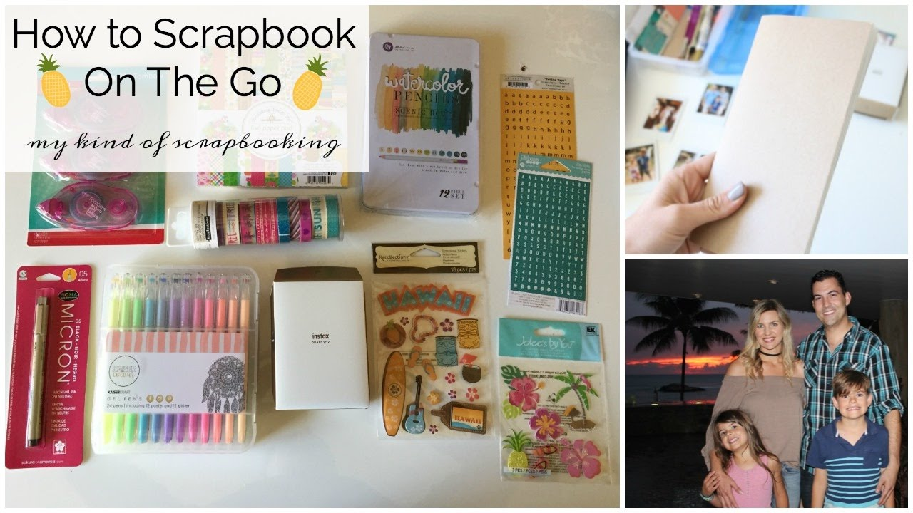 How to scrapbook travel - How To Travel Scrapbook Family Hawaii Trip