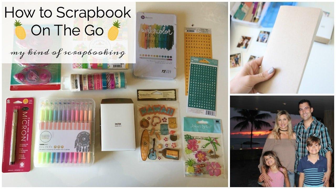 Scrapbook ideas hawaii - How To Travel Scrapbook Family Hawaii Trip