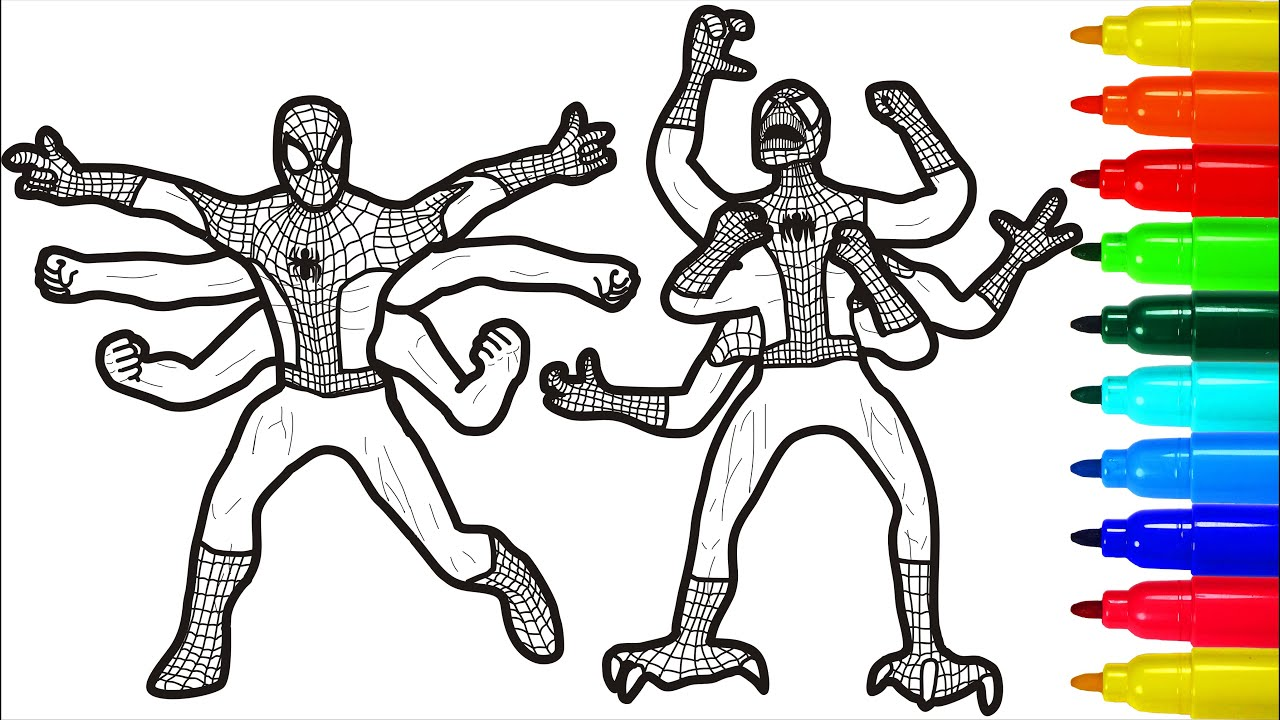 Spiderman Monsters Coloring Pages Youtube