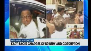 former Finance Minister P Chidambaram's son Karti Chidambaram leaves for London