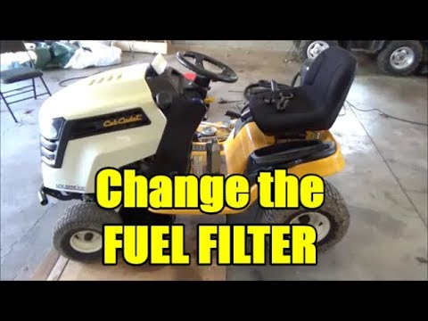 Cub Cadet How To Change The Fuel Filter Youtube