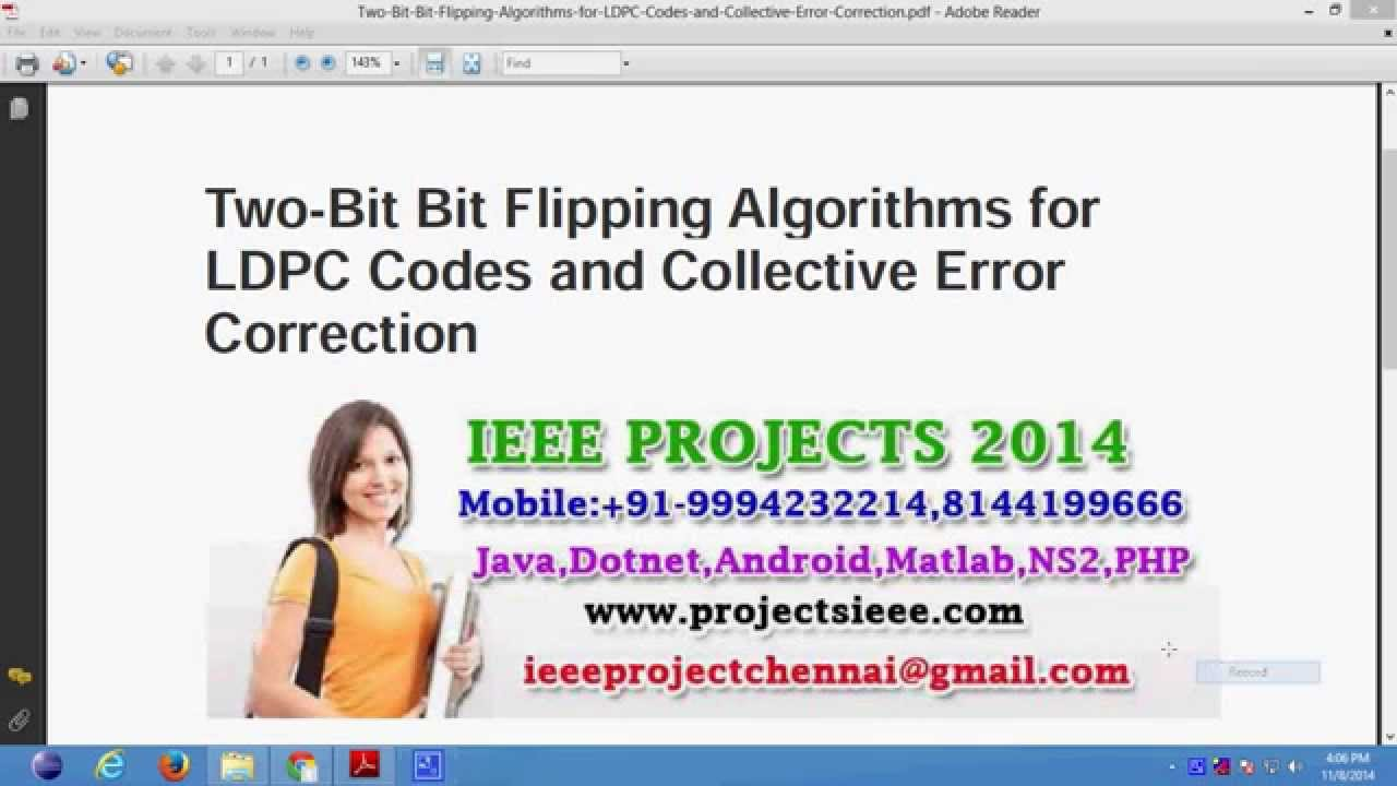 Two Bit Bit Flipping Algorithms for LDPC Codes and Collective Error  Correction