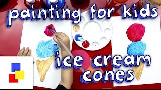 Painting Activity For 2 Year Olds (Ice Cream Cone)