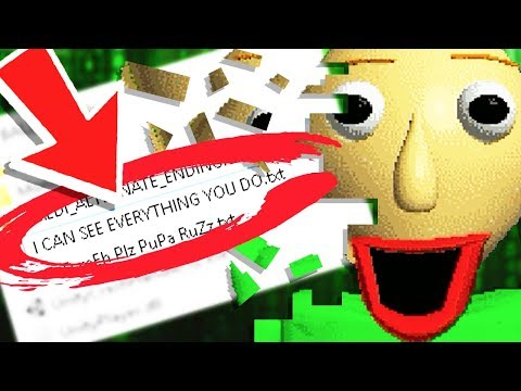 Baldi SENT a MESSAGE when I CHANGED the FILES?! - Baldi's Basics in Education and Learning Update