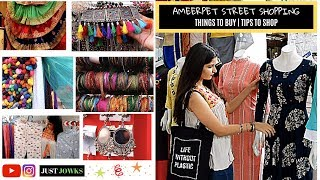 Ameerpet Street Shopping Vlog | Earrings for Rs 10, Tops for Rs 99 |  Hyderabad street shopping
