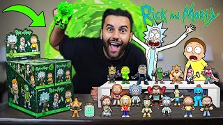 Opening GIANT RICK AND MORTY MYSTERY BOXES! SEARCHING ULTRA RARE 100$ GLOWING TOXIC RICK FIGURE!!