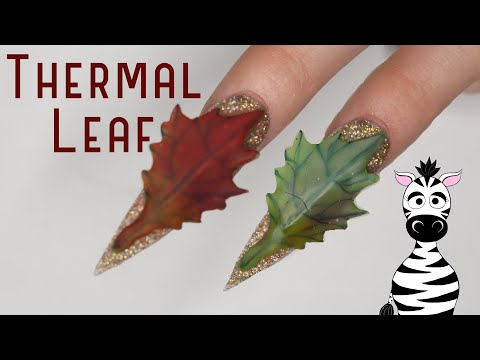 3D Thermal Color Changing Leaf Acrylic Nail Art Tutorial thumbnail
