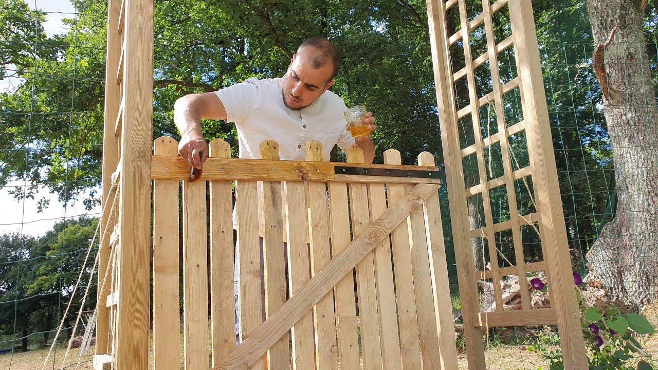 comment fabriquer un portillon en bois de palette