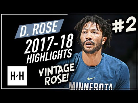 Derrick Rose VINTAGE Offense Highlights 2017-2018 (Part 2) - NEW Chapter!