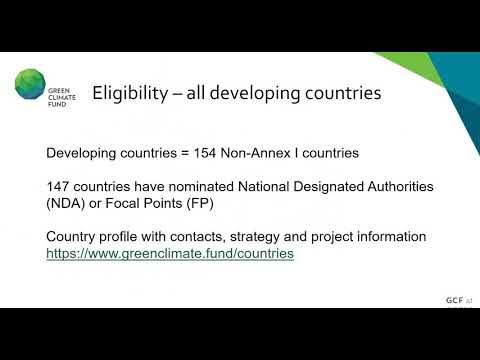 How to Access Green Climate Fund GCF for the Conservation of Wetlands 2nd Presentation