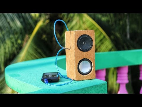 How to make audio amplifier | DIY | With paper board | Mini Speaker Box |