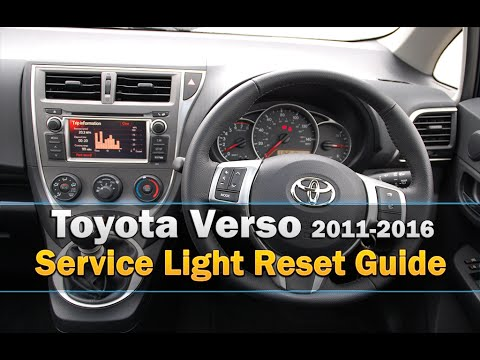 Toyota Verso Service Light Reset 2011 2016 Youtube