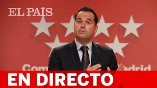 DIRECTO | Rueda de prensa del Consejo de Gobierno de MADRID