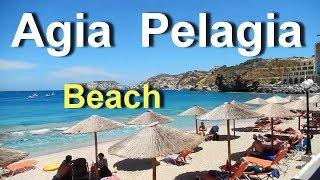 Agia Pelagia Beach Crete Greece June 2018